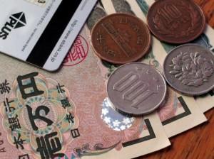 お札と小銭とカード